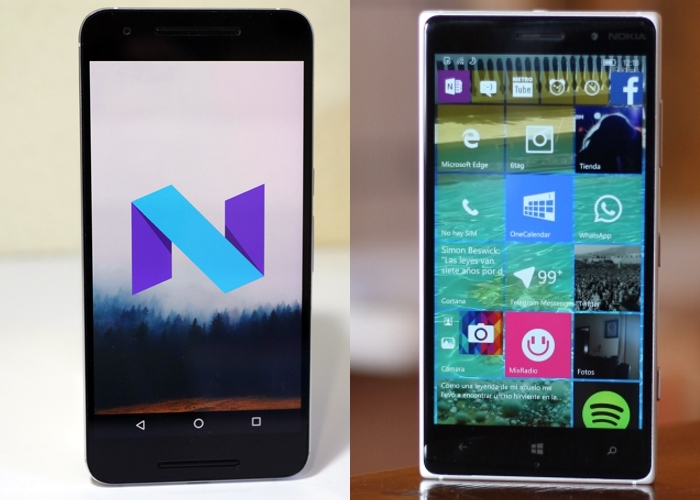 Android-N-vs-Windows-10-Mobile